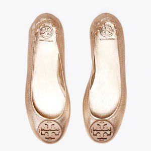 NWT Minnie Travel Ballet Flat in Rose Gold